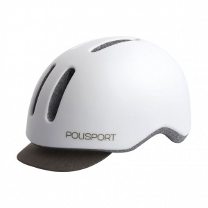 polisport helmet commuter white