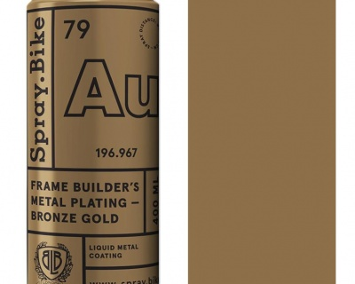 Spray.Bike Frame Builder's Metal Plating Bronze Gold-400ml