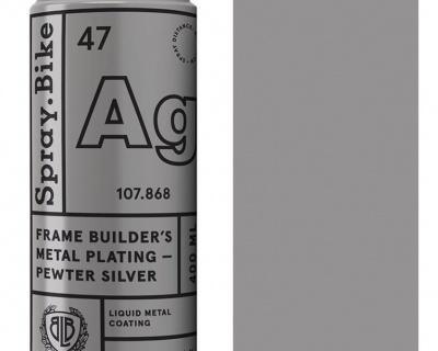 Spray.Bike Frame Builder's Metal Plating-Pewter Silver