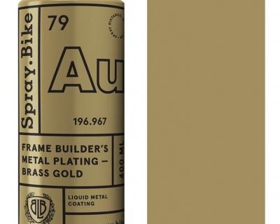 Spray.Bike Frame Builder's Metal Plating-Brass Gold 400ml